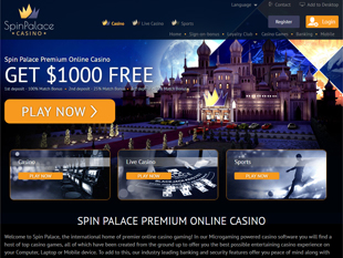 Spin Palace Home