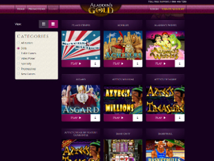 Aladdin's Gold Lobby