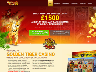Golden Tiger Casino Home
